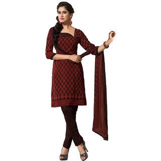 Lookslady Blue Georgette Lace Salwar Suit Dress Material (Unstitched)