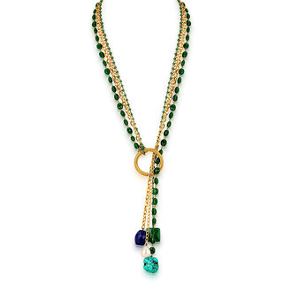Hsk Green Brass Fashion Necklace For Women