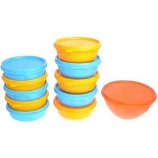 Herware Kitchen Storage Airtight Container Microwave/Fridge Safe Lunch Tifin 5x360ml+5x450ml+1x960ml
