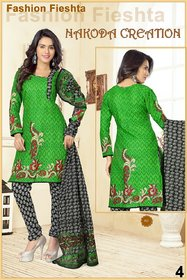 Nakoda Creation Women's Cotton Printed Unstitched Salwar Suit Dress Material
