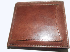 Natural Pure Money Purse Mens Brown Leather Wallet Mw330br