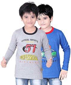 DONGLI BOYS SWEATSHIRT T-SHIRT ( PACK OF 2 )-DLLNF500-_WMELANGE_RBLUE