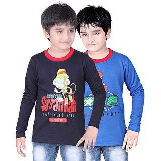 DONGLI BOYS SWEATSHIRT T-SHIRT ( PACK OF 2 )-DLLNF500-NAVY_RB