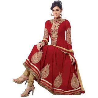 Women Faux Georgette Salwar Suit Dress Material