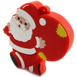 Microware Designer Fancy Santa Claus With Gift Shape 4Gb Pen Drive JKL146