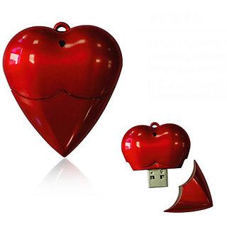 Microware Red Plastic Heart Shape Designer Pendrive Fancy 4Gb Pen Drive JKL43