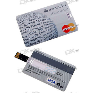 Microware Usb 2.0 4Gb Credit Card Shape Pen Drive JKL53
