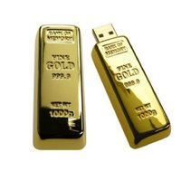 Microware Golden Biscuit Shape 16Gb Pen Drive JKL278