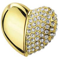 Microware 16Gb Metal Heart Shape Designer Fancy Pendriv