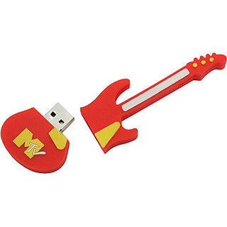 Microware Red Guitar Shape 16 Gb Pen Drive JKL272