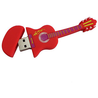 Microware Red Electric Guitar Shape 8 Gb Pen Drive JKL439