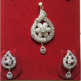 Polki Ear-ring and Pendant Set