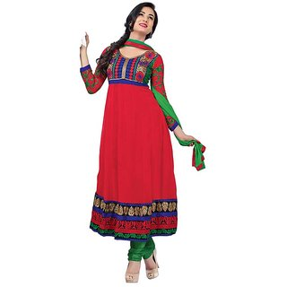 5c9c5fe62b4 Anarkali Semi Stiched In Red Prices in India- Shopclues- Online Shopping  Store