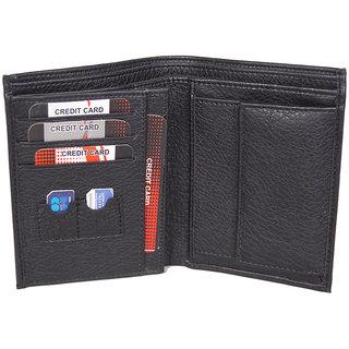 Men'S Wallet Gents Money Purse Black MW126BL