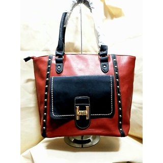 Black & brown Bindas handbag