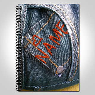 MyDoodlez Blue Jeans Personalized Notebook