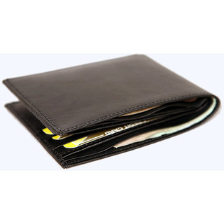 New Style Money Purse Mens Black Leather Wallet MW326BL