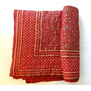 Krg Enterprises jaipuri razai rajai cotton blanket comforter SINGLE BEDED