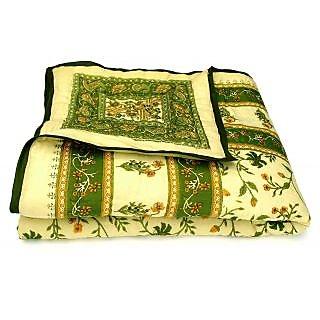 Krg Enterprises Jaipuri Single Bed Pure Cotton Quilt Rajai RAZAI SRM2001