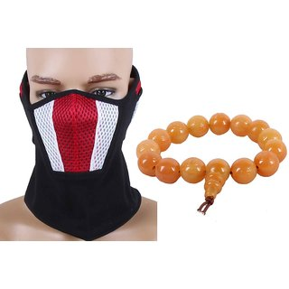 Jsm Ridder Black Face Mask With Ear Plug  Mani Wrist Band Combo JSMFHFM0518