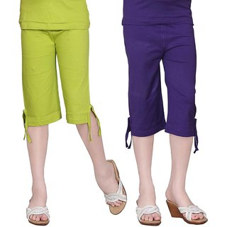SINIMINI GIRLS COLORFUL CAPRI ( PACK OF 2 )