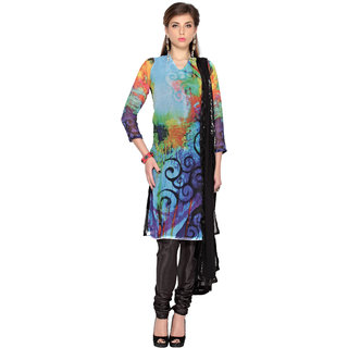 Multi Color Digital Printed Unstitched salwar suit with dupatta (20092)