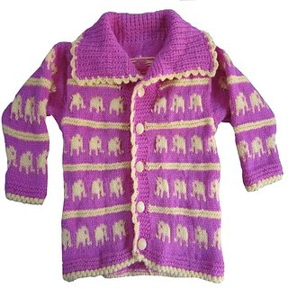 Knitting House Hand Knitted Elephant Design Sweater.