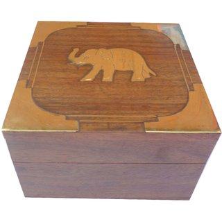 Box : Rose Wood Elephant Box