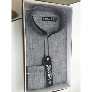 Grey Regular Cotton Men's Shirt