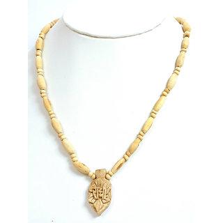White Tulsi Mala with Radha Pendant