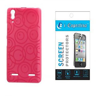 trending gadgets today lenovo a6000 plus back cover circles pink and screen guard 22341