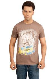 Vacuum Tshirts 100% Supima Cotton Safari Theme Lion Printed Beige T-Shirt