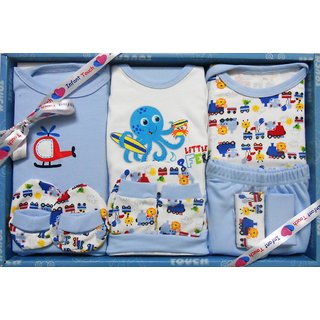 INFANT TOUCH - BABY GIFT SET - 12 Pcs - BLUE