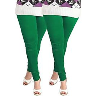 GREEN COLOR VISCOUSE SOFT QUALITY LEGGING--XL SIZE