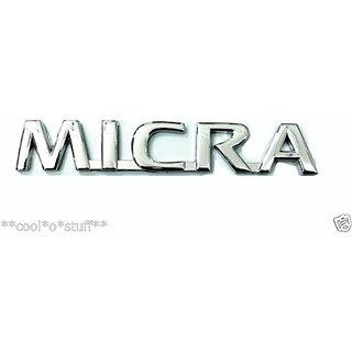 MICRA MONOGRAM EMBLEM CHROME for NISSAN MICRA NEW LOGO SUNNY