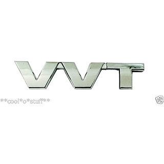 LOGO VVT MONOGRAM EMBLEM CHROME for Toyota Maruti Suzuki variable valve