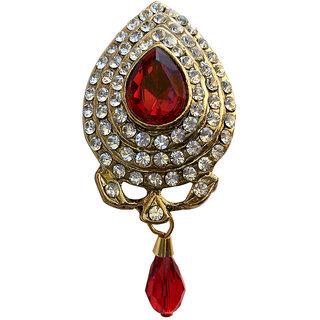 B-Fashionable Red Drop Bead Brooch