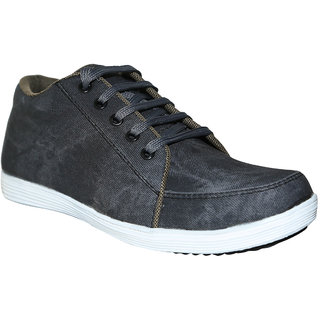 Coleyy Lace Up Casual Canvas Grey Shoes