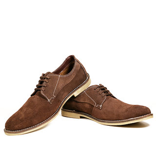 Coleyy Lace Up Casual Suede Brown Shoes