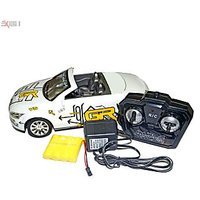1:16 Scale White Convertible RC Car Model With Full Function Remote