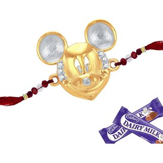 Sukkhi Cubic Zirconia Studded Mickey Mouse Rakhi For Kids