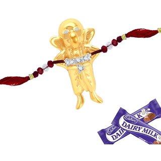 Sukkhi Cubic Zirconia Studded Bal Ganesha Rakhi For Kids