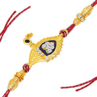 Sukkhi Designer Gold Plated AD Basuri Rakhi