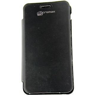 new products f1398 d0c86 Micromax Flip Cover for Micromax Bolt A24 (Black)