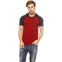 Gritstones Men's Black Round Neck T-Shirt