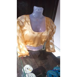 Golden stitched padded blouse