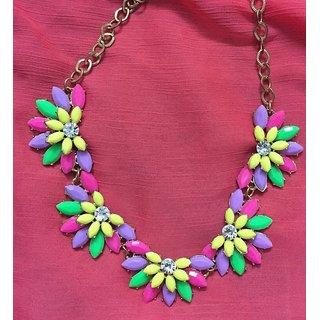 Multicolor Flower Necklace