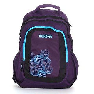 American Tourister Purple  Black Backpack