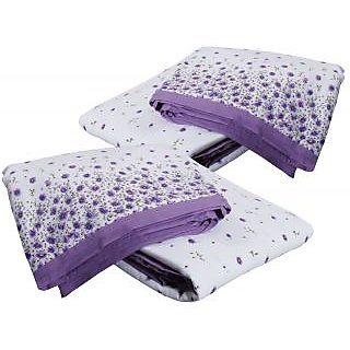 IndiWeaves Cotton Dohar/Ac Blanket  set for Single Bed (2 pieces)-White