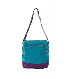 Cappuccino turq sling bag